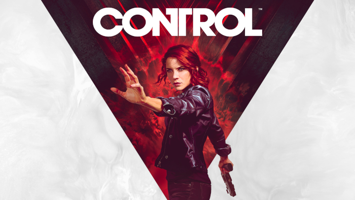 Banner image for Control the game featuring a red-headed female protagonist reaching out of the screen in front of a stylized background with the game title text above